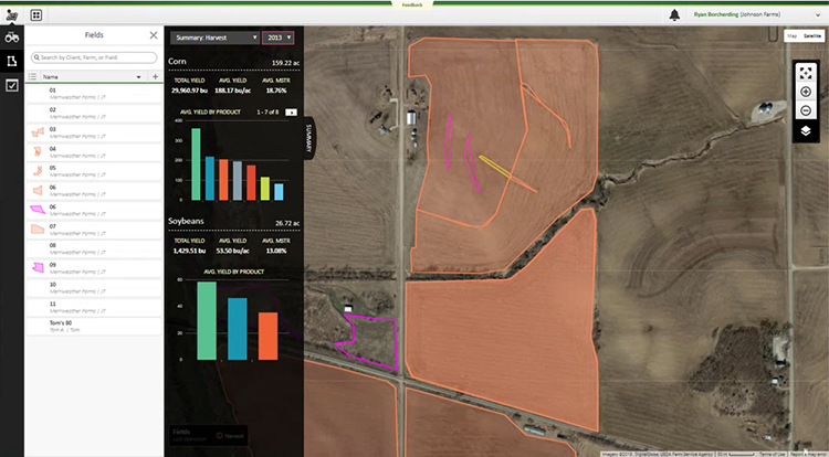 Use JD Operations Center to track operations on your farm.